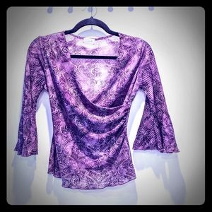Charlotte Russe 3/4 bell sleeve blouse